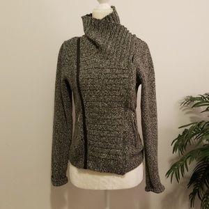 Asymmetrical Moto Sweater Jacket